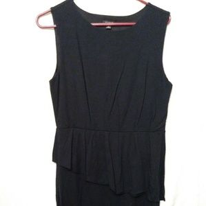 Ann Taylor Size 8, casual black dress with ruffle.